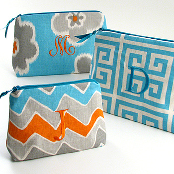 Personalized Printed Cotton Cosmetic Bags by Objects of Desire