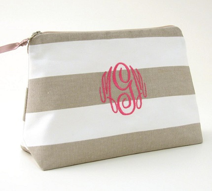 monogrammed cosmetic bags by Objects of Desire