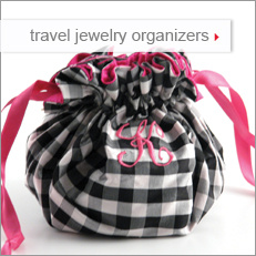 travel jewelry organizers: personalized jewelry rolls, jewelry pouches, and jewelry cases by Objects of Desire