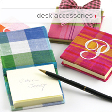 Objects of Desire desk accessories: personalized photo albums and note pads
