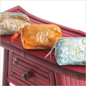 Objects of Desire Asian brocade personalized coin purse