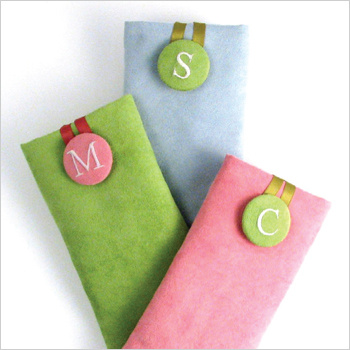 personalized faux suede eyeglass case