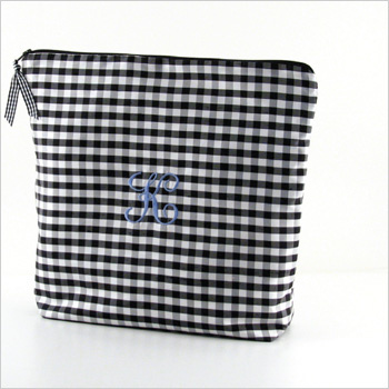 personalized silk gingham lingerie bag by Objects of Desire
