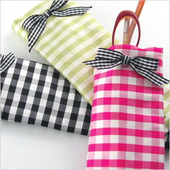 gingham silk reader eyeglass case