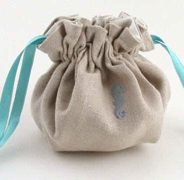 Personalized Linen Jewelry Pouch by Objects of Desire