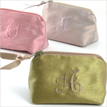 metallic dupioni coin purse