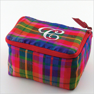 personalized plaid silk jewelry case by Objects of Desire