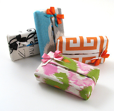 printed cotton tissue case by Objects of Desire