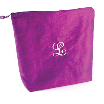 personalized solid dupioni silk lingerie bag by Objects of Desire