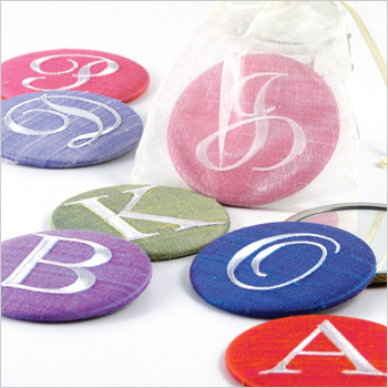 personalized solid silk purse mirrors