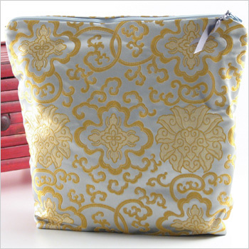 Asian brocade lingerie bag by Objects of Desire. Made in the USA