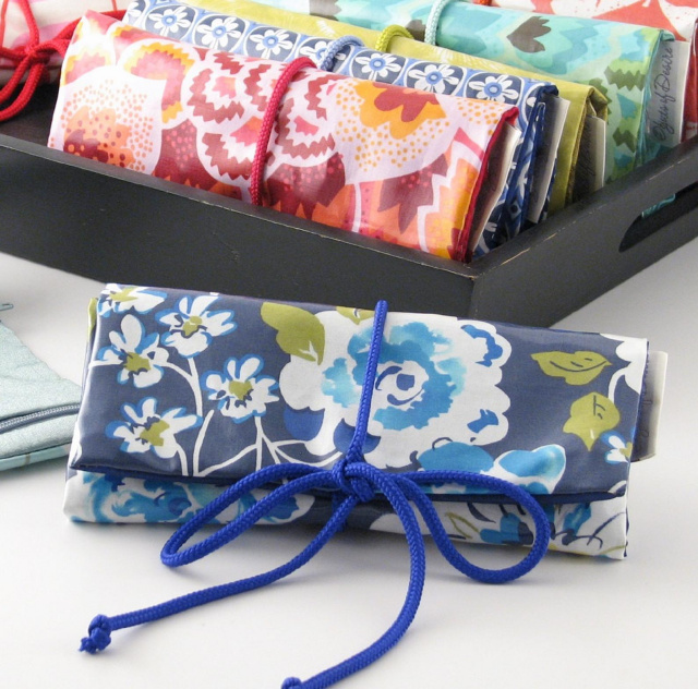 personalized printed cotton travel jewelry roll by Objects of Desire