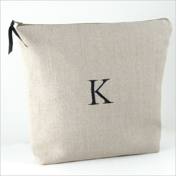personalized linen lingerie bag by Objects of Desire