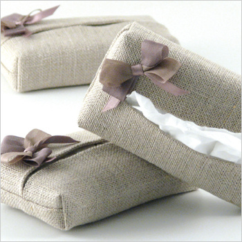 natural linen tissue case - a travel must