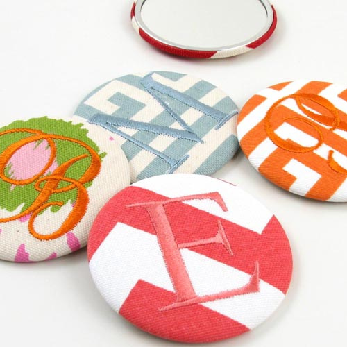printed cotton purse mirrors