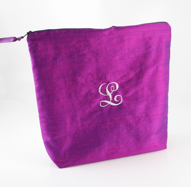 personalized solid silk lingerie bag by Objects of Desire