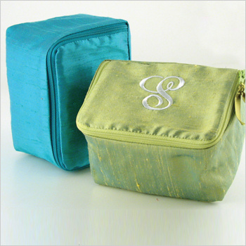 personalized dupioni silk jewelry case by Objects of Desire