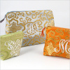 personalized brocade cosmetic bag - large