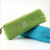 personalized faux suede brush case