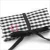 personalized silk gingham jewelry roll
