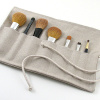 linen makeup brush roll
