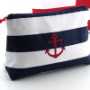 nautical cosmetic bag + i