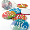 personalized plaid silk purse mirrors