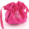 personalized silk jewelry pouch